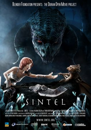 Sintel movie poster by Pablo Vazquez